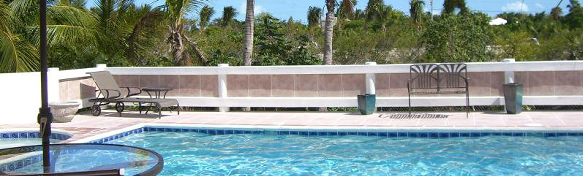 Backyard pool at Provo Villa on Turks and Caicos Islands