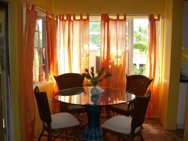 Dining area at Outside of Le Castellet Provo Villa on Turks and Caicos Islands