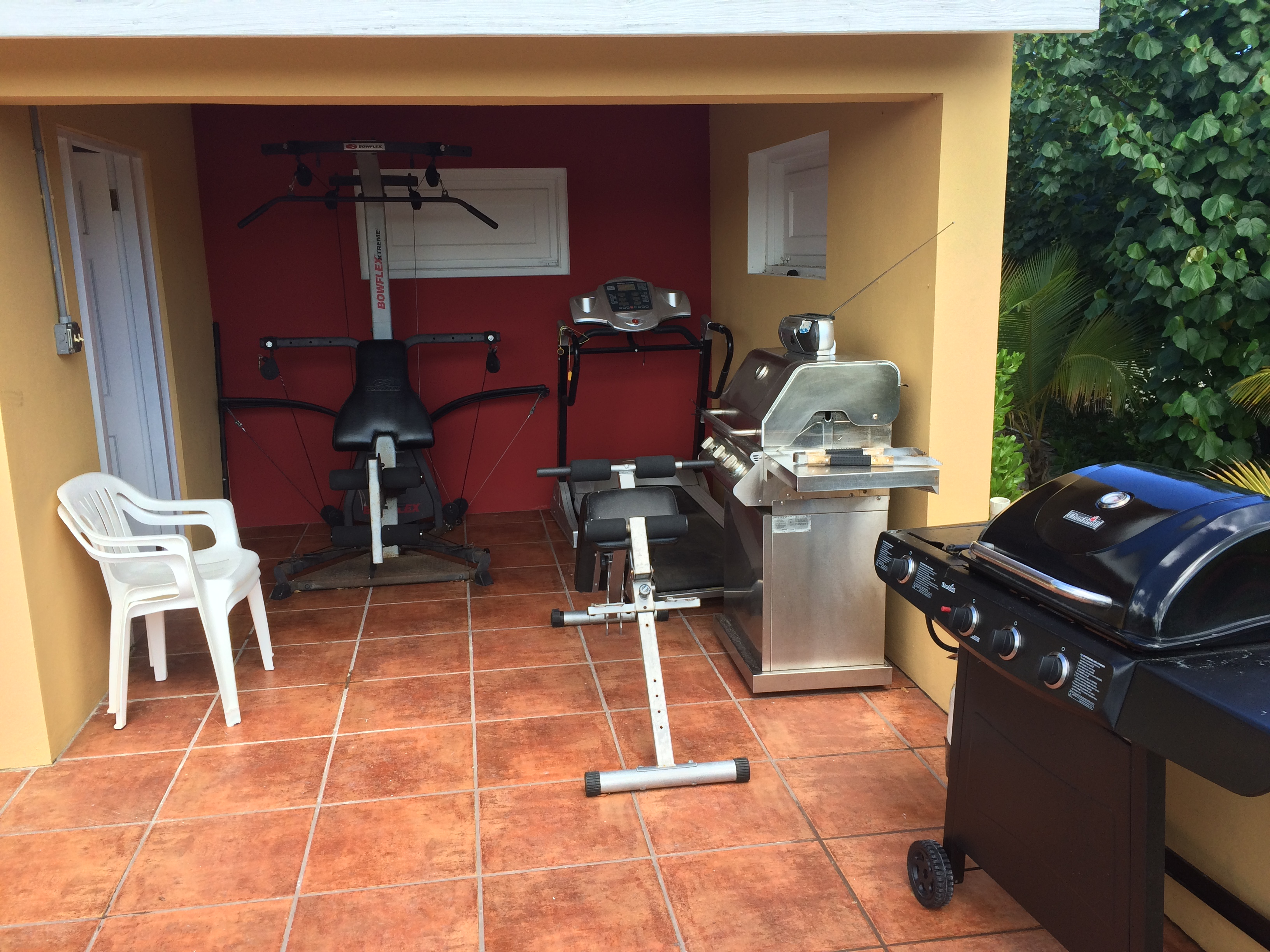 Ecercise and grill area at Provo Villa