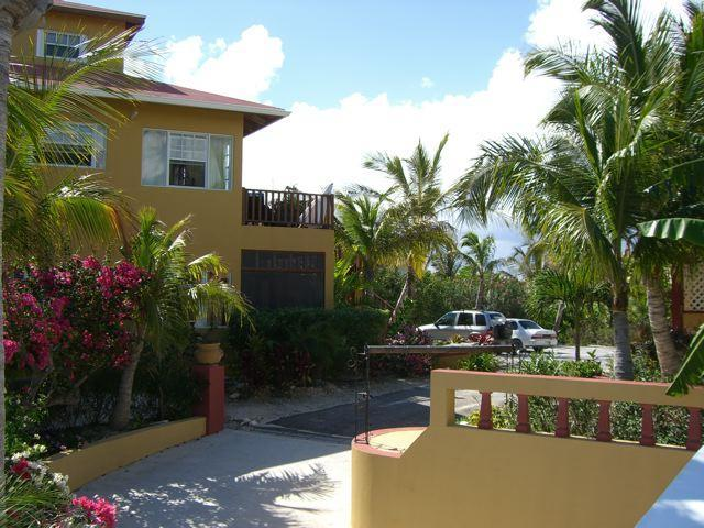 Parking and driveway at Outside of Le Castellet provo villa on Turks and Caicos Islands