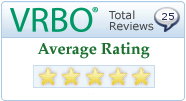 VRBO reviews average rating