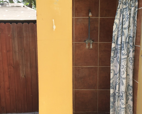 Caribbean shower at Provo Villa vacation rental