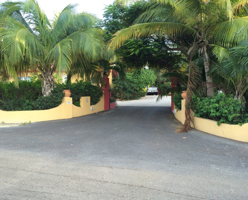 Entry at Provo Villa vacation rental on Providenciales at Turks and Caicos Islands