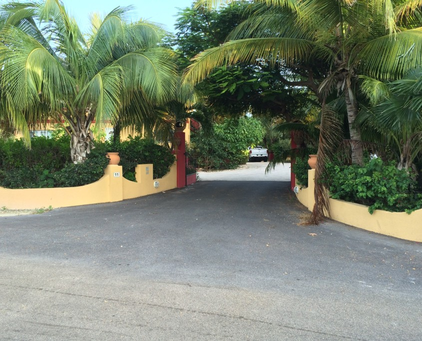 Entrance to Provo Villa on Providenciales at Turks and Caicos Islands