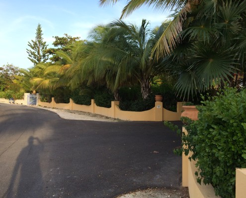 Road outside Provo Villa on Providenciales at Turks and Caicos Islands