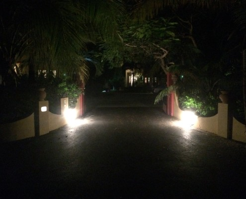 Entrance to Provo Villa on Providenciales on Turks and Caicos Islands