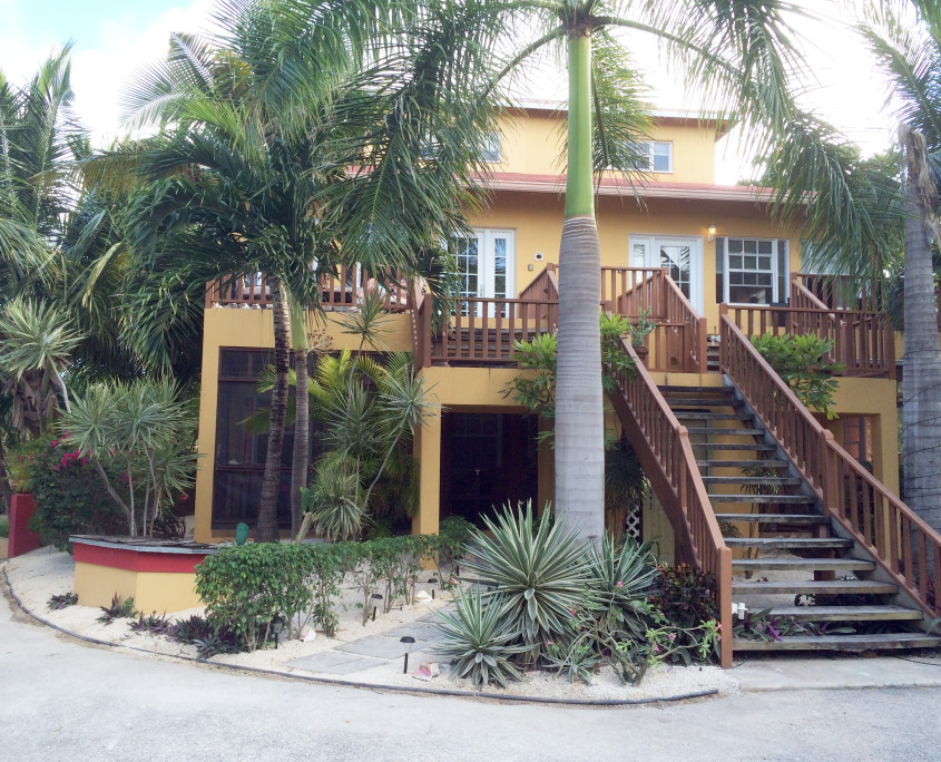 Front of ProvoVilla on Providenciales part of Turks and Caicos Islands