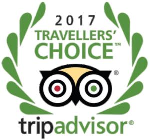 2017 Travelers' Choice award from TripAdvisor