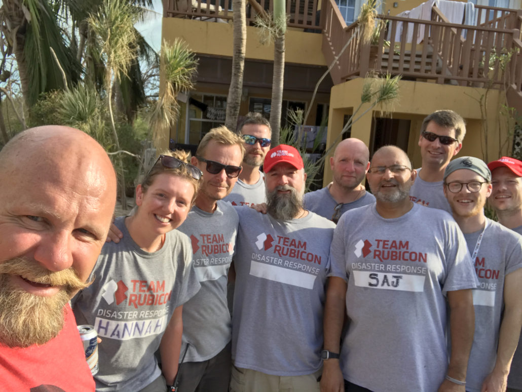 Provo Villa was happy to donate lodging to Team Rubicon. Owner Brian DeCoster with Team Rubicon Disaster Response Team