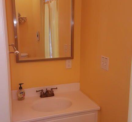 New Provo Villa Master bathroom mirror and sink vanity